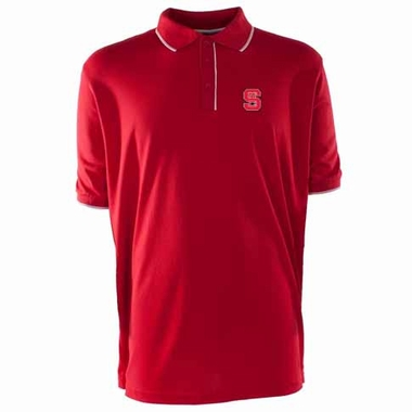 NC State Mens Elite Polo Shirt (Color: Red)