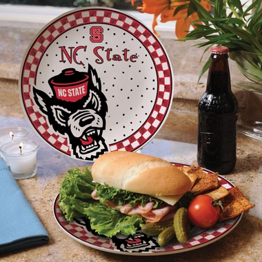 NC State Gameday Ceramic Plate