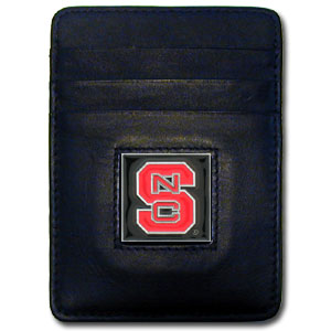 NC State Leather Money Clip (F)