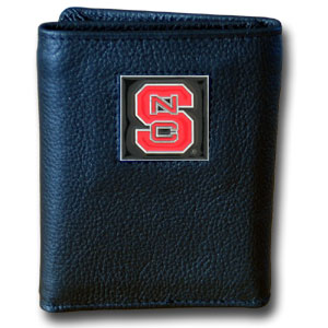 NC State Leather Trifold Wallet (F)