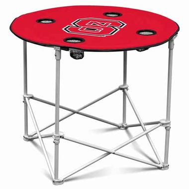 NC State Round Tailgate Table