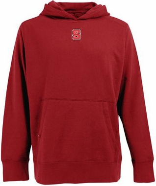 NC State Mens Signature Hooded Sweatshirt (Color: Red)