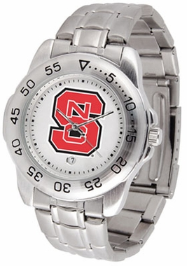 NC State Sport Men's Steel Band Watch