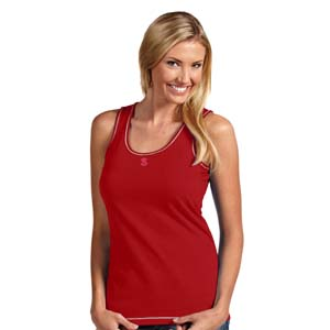 NC State Womens Sport Tank Top (Color: Red) - Large