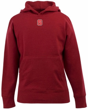 NC State YOUTH Boys Signature Hooded Sweatshirt (Color: Red)
