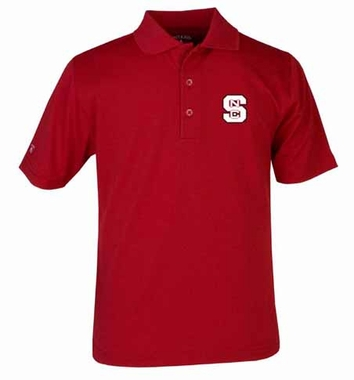 NC State YOUTH Unisex Pique Polo Shirt (Color: Red)