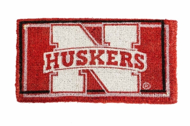 Nebraska 18x30 Bleached Welcome Mat