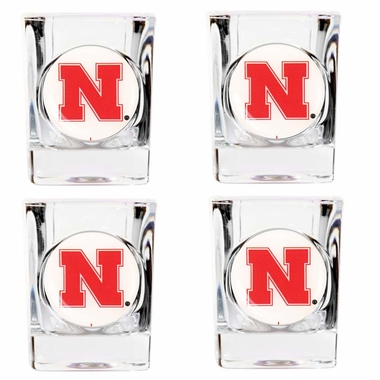Nebraska 4 Piece Shot Glass Set