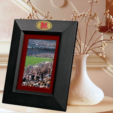 Nebraska BLACK Portrait Picture Frame