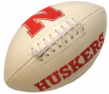 Nebraska Cornhuskers Full Size Embroidered Signature Series Football
