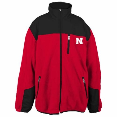 Nebraska Poly Dobby Full Zip Polar Fleece Jacket