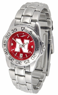 Nebraska Sport Anonized Women's Steel Band Watch