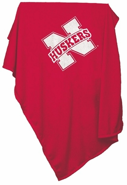 Nebraska Sweatshirt Blanket