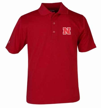 Nebraska YOUTH Unisex Pique Polo Shirt (Color: Red)