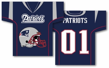 New England Patriots 2 Sided Jersey Banner Flag (F)