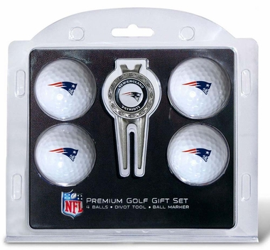 New England Patriots 4 Ball and Divot Tool Set