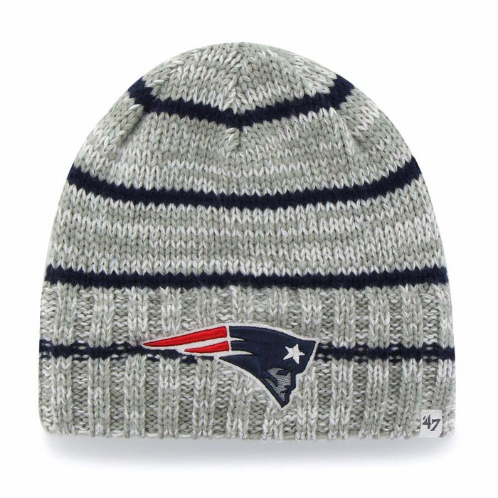 ... sale new england patriots 47 brand mcmahon heather grey cuffless knit  hat 35222 755d5 ... fe38cd2dd