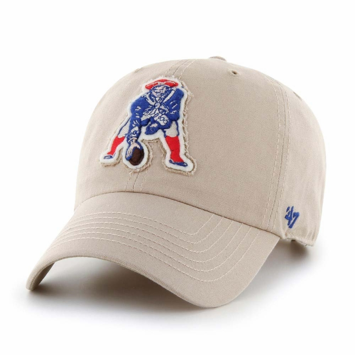 best loved 81a0b 67c19 New England Patriots 47 Brand Wright Clean Up Adjustable Hat - Khaki