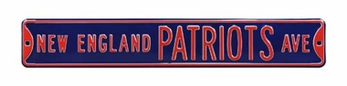 New England Patriots Ave Street Sign