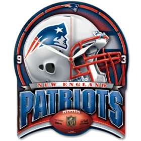 New England Patriots High Definition Wall Clock