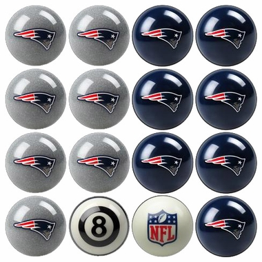 New England Patriots Home and Away Complete Billiard Ball Set