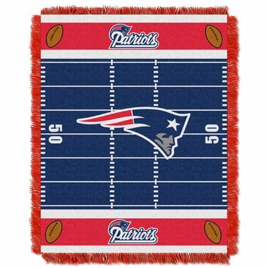 New England Patriots Jacquard BABY Throw Blanket