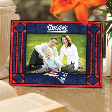 New England Patriots Landscape Art Glass Picture Frame