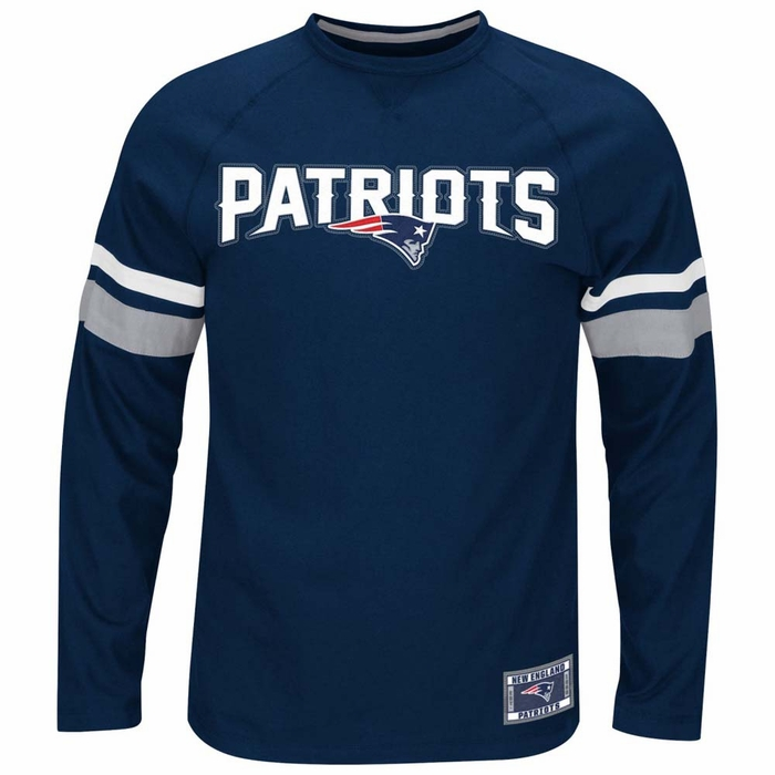 New England Patriots Majestic Power Hit Men 39 S Long Sleeve