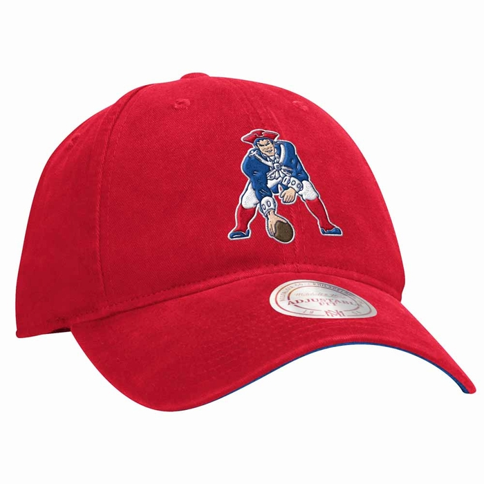 6295ddbfb9d New England Patriots Mitchell   Ness Throwback Logo Slouch Adjustable Hat