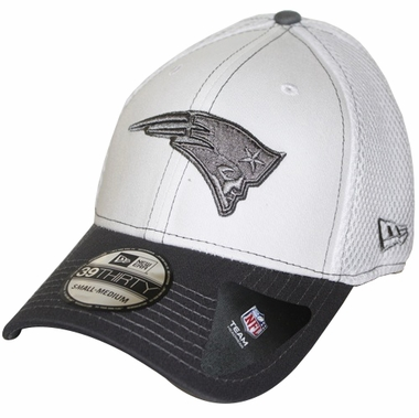 New England Patriots New Era 39THIRTY Blitz Neo Fitted Hat - Gray