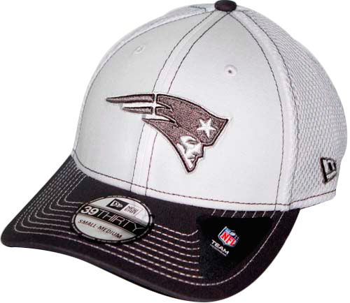 size 40 064e5 75367 New England Patriots New Era 39THIRTY Blitz Neo Fitted Hat - White Gray
