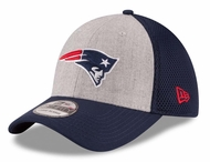new style 8be23 97fc2 New England Patriots New Era 39THIRTY Heathered Gray Neo Flex Fit Hat
