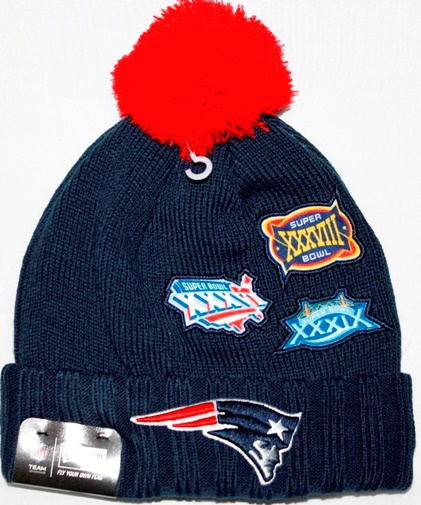 0b3a0cb0202 ... free shipping new england patriots new era nfl super bowl champions  commemorative knit hat 89451 8eac5