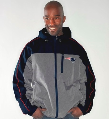 New England Patriots NFL G-III Halftime Full Zip Hooded Jacket - Gray