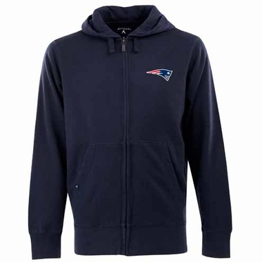 New England Patriots Mens Signature Full Zip Hooded Sweatshirt (Color: Navy)