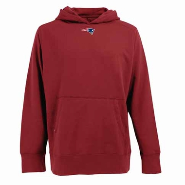 New England Patriots Mens Signature Hooded Sweatshirt (Color: Red)