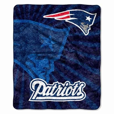 New England Patriots Super-Soft Sherpa Blanket