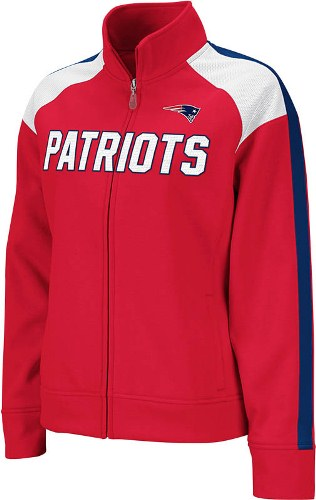 New England Patriots Women s Reebok Bonded Full Zip Track Jacket 67405f7e3