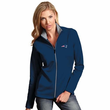 New England Patriots Womens Leader Jacket (Color: Navy)