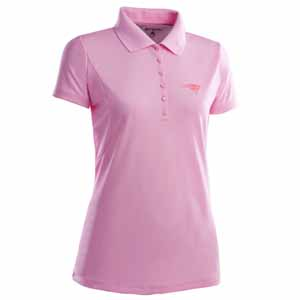 New England Patriots Womens Pique Xtra Lite Polo Shirt (Color: Pink) - Large