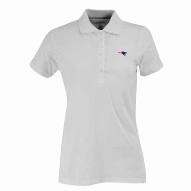 New England Patriots Womens Spark Polo (Color: White)