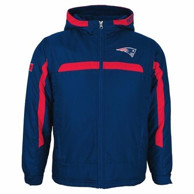 New England Patriots YOUTH NFL Midweight Hooded Jacket