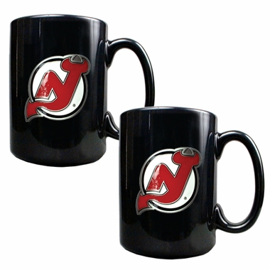 New Jersey Devils 2 Piece Coffee Mug Set