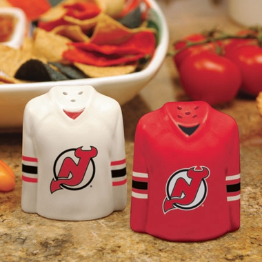 New Jersey Devils Ceramic Jersey Salt and Pepper Shakers