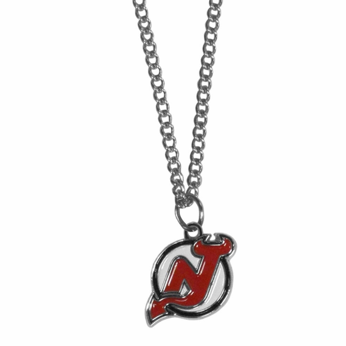 New jersey devils chain necklace with small charm f aloadofball Images