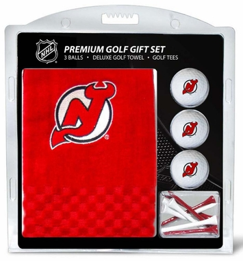 New Jersey Devils Embroidered Towel Golf Gift Set