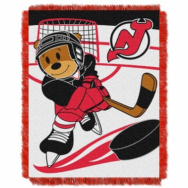 New Jersey Devils Jacquard BABY Throw Blanket