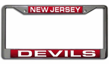 New Jersey Devils Laser Etched Chrome License Plate Frame