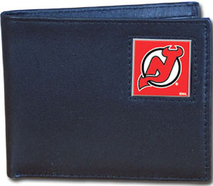 New Jersey Devils Leather Bifold Wallet (F)