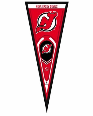 "New Jersey Devils Pennant Frame - 13"" x 33"" (No Glass)"